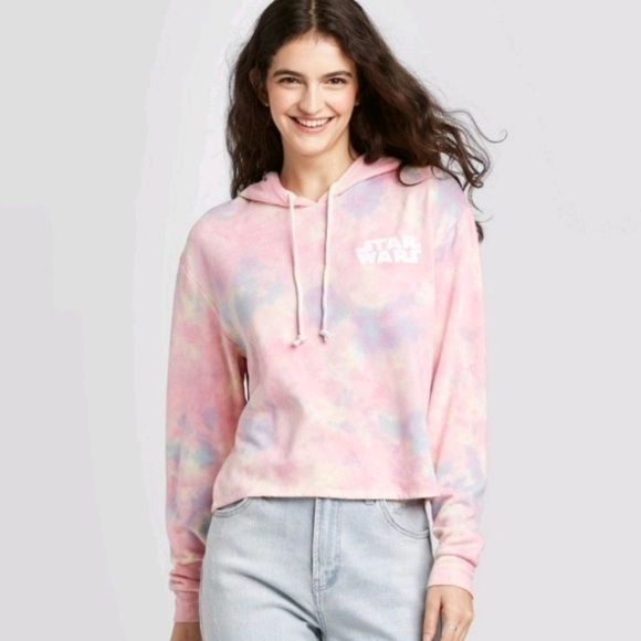 Star Wars rebel tie dye crop hoodie. Disney.